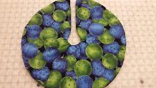 "16.5"" Green & Blue Ornament Allover Christmas Tree Skirt holiday decor made4u"