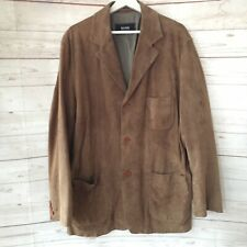 Boss Hugo Boss Lamb Leather Sport Coat Jacket Size 42 Brown Tan