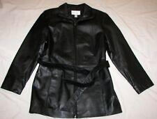 Women's Worthington Black Leather Jacket - Size Small - Zip Front
