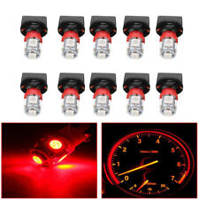 10x Red T10 SMD 194 LED Bulbs for Instrument Gauge Cluster Dash Light W/ Sockets