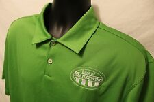 Nike Bank of Frankewing TN Green S/S Fit-Dry Polo Shirt Mens Sz L Polyester