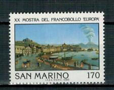AL FACCIALE SAN MARINO - 1980 EXPO FILATELICA A NAPOLI - SERIE COMPLETA** MNH