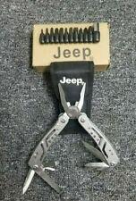 Jeep Multi-Tool Folding Pocket Knife Bit Set Pliers w/ sheath