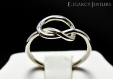 Adjustable .925 Sterling Silver Thin Love Knot Summer Cute Toe Ring