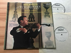*2 X TESTS* CAPITOL P 8512 TCHAIKOVSKY - VIOLIN CONCERTO *NATHAN MILSTEIN*