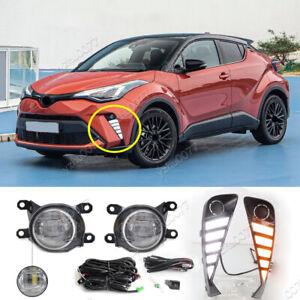 2020 2021 For Toyota C-HR CHR LED Daytime running lights LED Front Fog Light Kit
