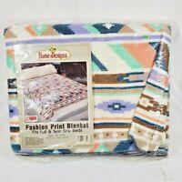 Vintage Beacon Blanket Arizona 72x90 Full Twin Unused Southwest Desert Lodge NOS
