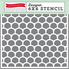 Scrapbooking Crafts Echo Park Stencil 6X6 Seashells Repeats Use With Paint Spray