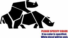 Vinyl Decal Sticker - Rhino Sex Car Truck Bumper Window Laptop Tablet  Fun 12""