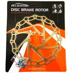 ALLIGATOR Crown MTB Road Bike Disc Brake Rotor 160/180/203mm - Ti Gold