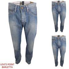Pepe Jeans Iconic Uomo Regular Dritto Taglia W32 W33 W34 L32 Azzurro Sabbiato