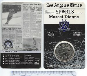 LA Kings Hockey Coin 1998/99 Marcel Dionne SGA