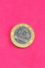 FRANCE  KM964.1 1989 VF-VERY FINE-NICE BI-METAL PRE-EURO 10 FRANCS CIRC  COIN