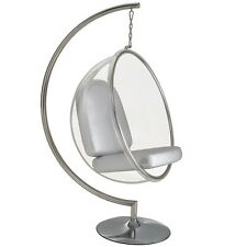 Eero Aarnio Standing hanging Bubble Chair With Silver or red PU Cushion #3024
