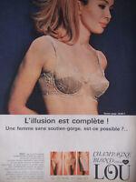 PUBLICITÉ DE PRESSE 1967 SOUTIEN-GORGE LOU CHAMPAGNE BLOND - ADVERTISING