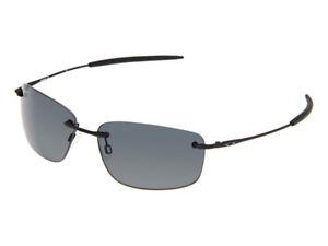 Oakley Nanowire 1.0 Polarized Sunglasses 30-755 Matte Black/Grey (no etching)