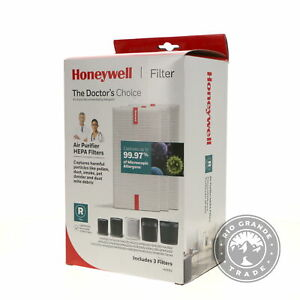 NEW Honeywell HRFR3 The Doctor's Choice HEPA Replacement Filter - White - 3 Pack