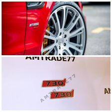 Brabus 730 emblem on front fenders for Mercedes Benz E S C CLS W212 set of 2 pcs