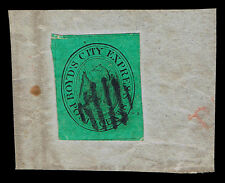 EARLY LOCAL STAMP SCOTT #20L4 1845 BOYD'S EXPRESS NY LOCAL ON PIECE BLACK GRID