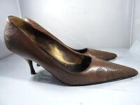 Prada Brown Heels Pumps Stiched Design Size 36 (US 5.5)