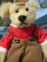 VINTAGE TEDDY BEAR BEARLY THERE SPANKY JR PLUSH DRESSED BOY ARTIST LEHNER SM  8""