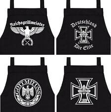 Grillschürze Fun Grillmeister Wehrmacht Grillen Kochschürze BBQ Schürze WW2