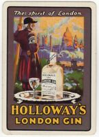 Playing Cards Single Card Old Wide HOLLOWAYS LONDON GIN Advertising Art Soldier
