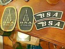 More details for 4 bsa cloth patches, unused vintage