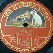 "78rpm 12"" ALMA GLUCK ave maria / angels serenade , violin - zimbalist"