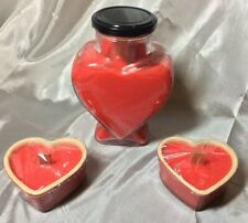 7 INCH TALL HEART SHAPE CANDLES STRAWBERRY WHIPPED CREAM CAKES SCENTED FRAGRANCE