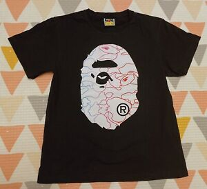 100% Authentic A Bathing APE BAPE T Shirt Size M Black *Made In Japan*