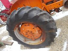 "Allis Chalmers WD WD45 45 Tractor AC spin out rims rim & 13.6x28"" GoodYear tires"