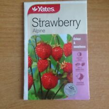 3 X YATES STRAWBERRY SEEDS(ALPINE)  (BNISP) COLOUR & SWEETNESS