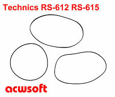 Riemen Belts for Panasonic 612 Technics RS-612 RS-615 Tape Deck