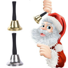 LN_ CHRISTMAS SCHOOL PET CALL RINGTONE JINGLE HAND BELL WITH WOODEN HANDLE TOY