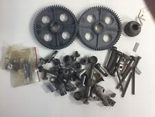 Lot of Small Metal Lathe Tool Parts Nuts, Bolts, Gears 64A as pictured