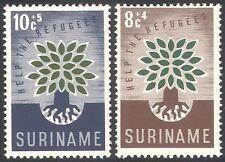 Surinam 1960 WRY/Refugees/Tree/Welfare/Health/Animation 2v set (n28219)