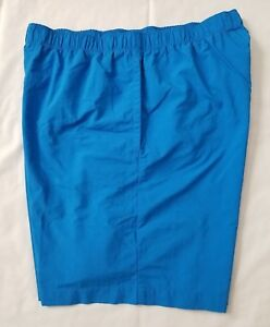 Mens Size Medium Blue Columbia Omni Shade 100% Nylon Fishing Shorts preowned