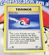 Pokemon Cards - 1st Edition Poke Ball #64/64 JUNGLE set [EX] (1999)