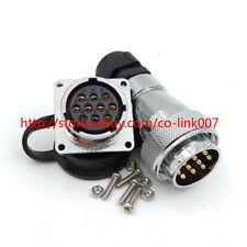 WF28 10Pin Waterproof Connector, IP65 Solder Aviation Bulkhead Plug US STOCK