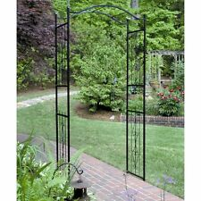 Gardman Charleston 7.5-ft. Metal Arch Arbor, Black