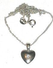 Kette mit Anhänger Herz Sterling Silber 925 massiv 44cm