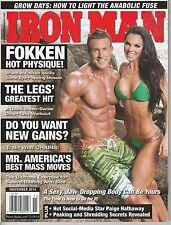 NOV 2014 IRON MAN vintage body building magazine BRANDAN FOKKEN