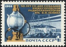 Russia 1968 Radio Laboratorio/Scienza/Technology/Edifici/antenne 1 V (n44659)