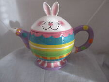 Fitz & and Floyd Easter Hoppy Days Teapot Item #653-103 NEW in BOX