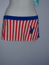 SALE-PLAYBOY SKIRT RED WHITE AND BLUE  SMALL