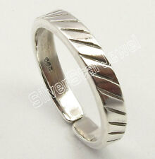 Toe Ring Band Birthday Present .925 Pure Sterling Silver Beautiful Adjustable
