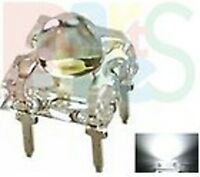 Lot-50 White Piranha Super flux LED 5mm Dome 12000mcd free resistor 12v 5PW