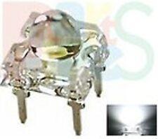Lot-10  White Piranha Super flux LED 5mm Dome 12000mcd W/ free resistor 12v PCB
