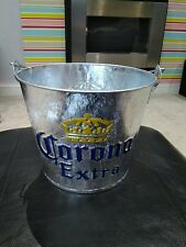 Corona Extra Embossed Galvanised Ice Bucket with Bottle Opener pub/bar/mancave